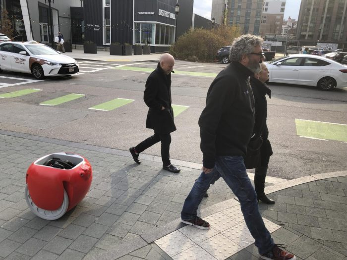 Grocery-carrying robots coming next…