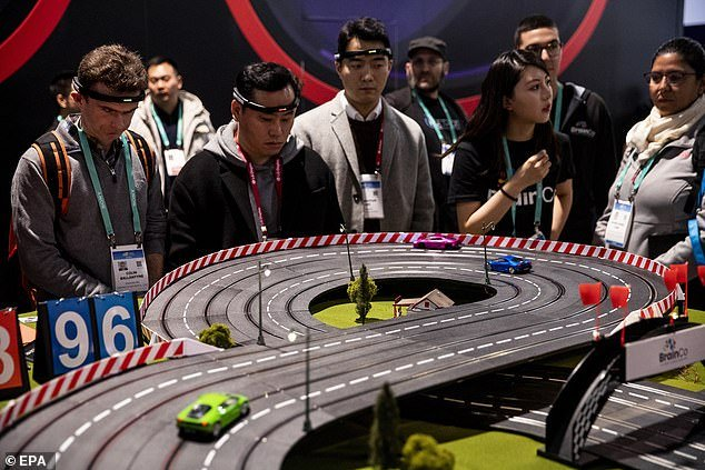 Scalextric-style slot cars that you can control with your BRAIN