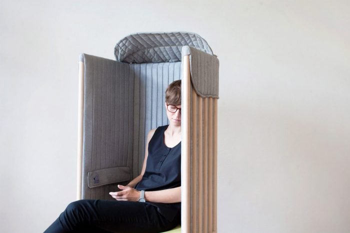 A mobile signal blocking chair for relax / healthier break.