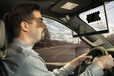 Virtual sun visor uses an LCD screen to cut the glare without cutting your view.