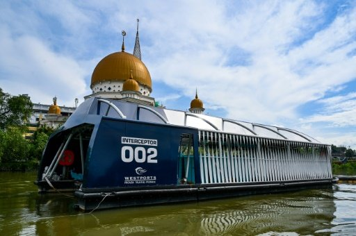 Solar-powered barge a key 'interceptor' for plastic waste