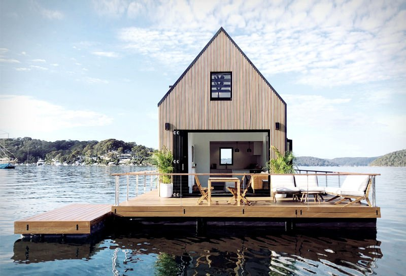 The 'Lilypad' Floating Cabin