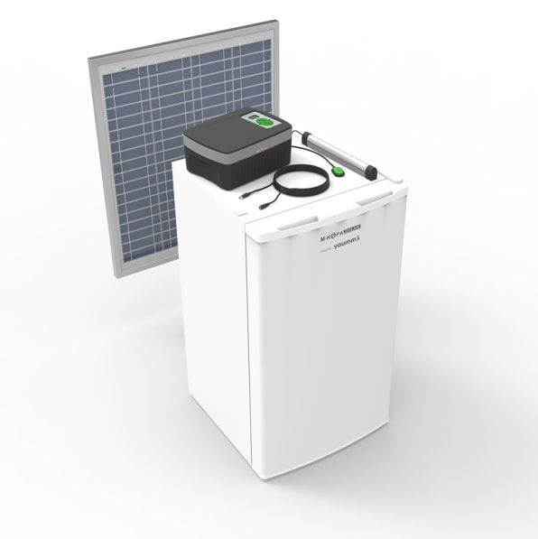 Youmma's Compact Fridge Runs on a Single Solar Panel