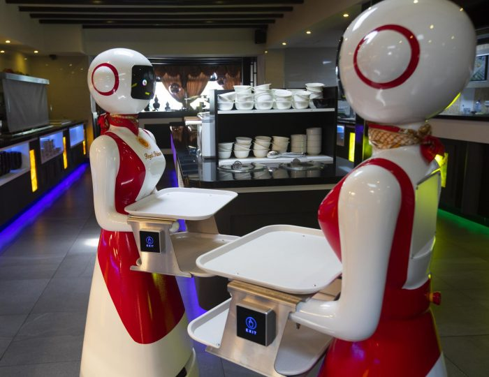 Robot waiters to the rescue amid virus