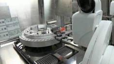 A coronavirus-testing robot in Japan