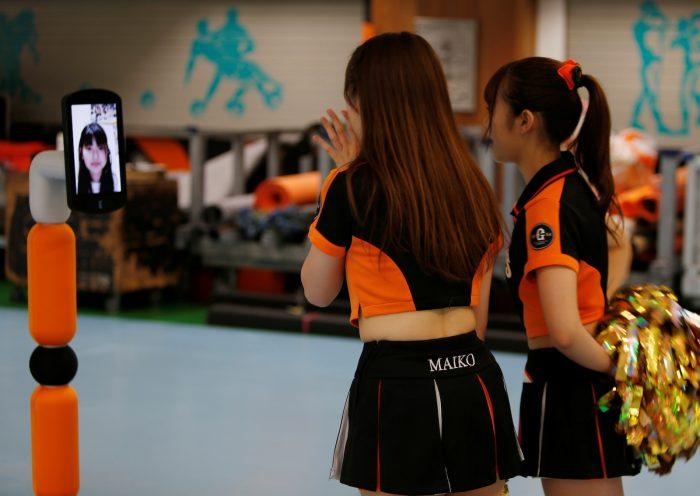 Japanese baseball fan goes to empty stadium via robot