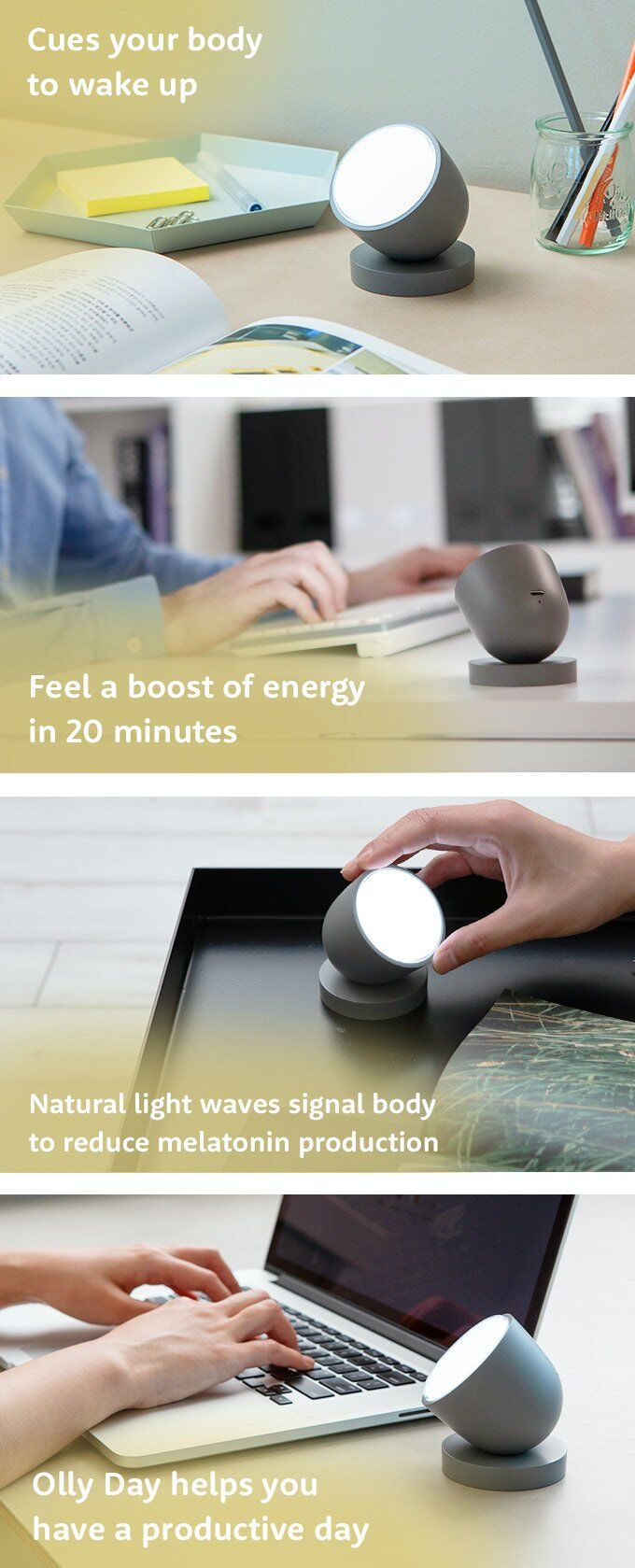 'Olly' Light Uses Light Therapy to Balance Melatonin Production
