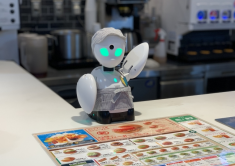 Japanese fast food chain's new robot worker helps people sick and stuck at home continue to earn
