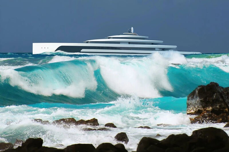 The Conceptual 'Kiwa' Superyacht by Isaac Burrough