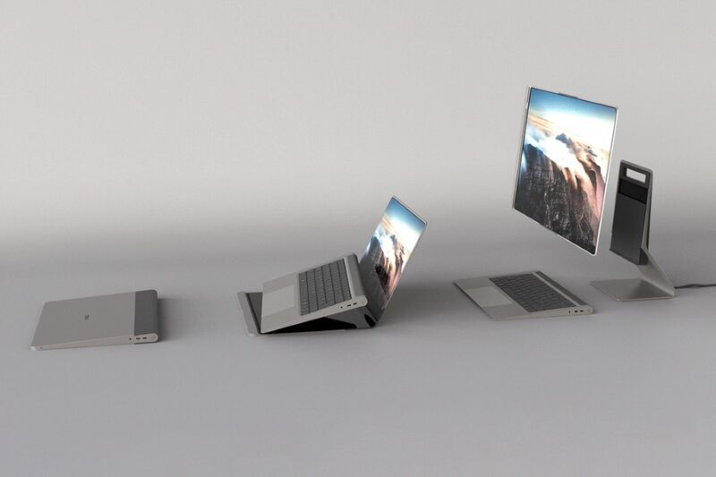 The Conceptual 'Paysage' Laptop Turns into a Desktop When Required