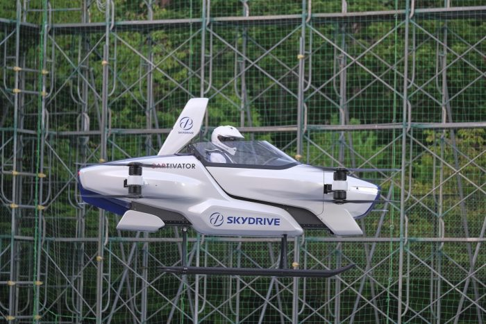Japan's 'flying car' gets off the ground, with a rider aboard