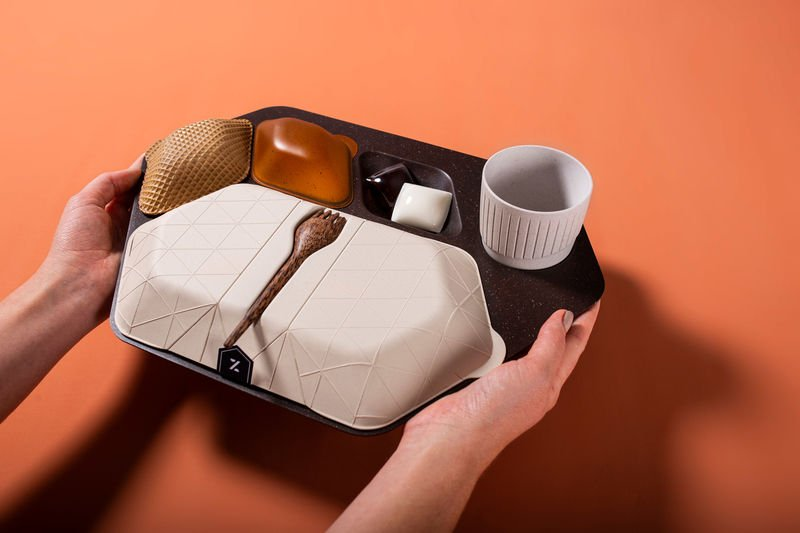 Eco-Friendly Plane Meals