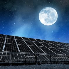A solar panel for night?