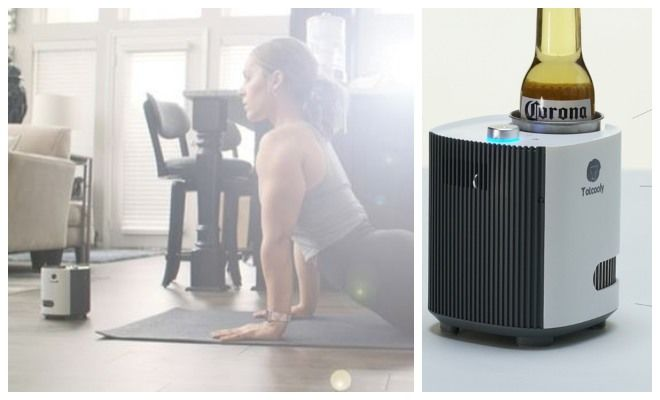 The 'Totcooly' Cools the Air, Purifies it and Keeps Drinks Cold