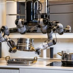 The Moley Kitchen Robot Cooks and Cleans Up Afterward