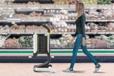The 'Mobi' Smart Shopping Cart Easily Navigate Aisles