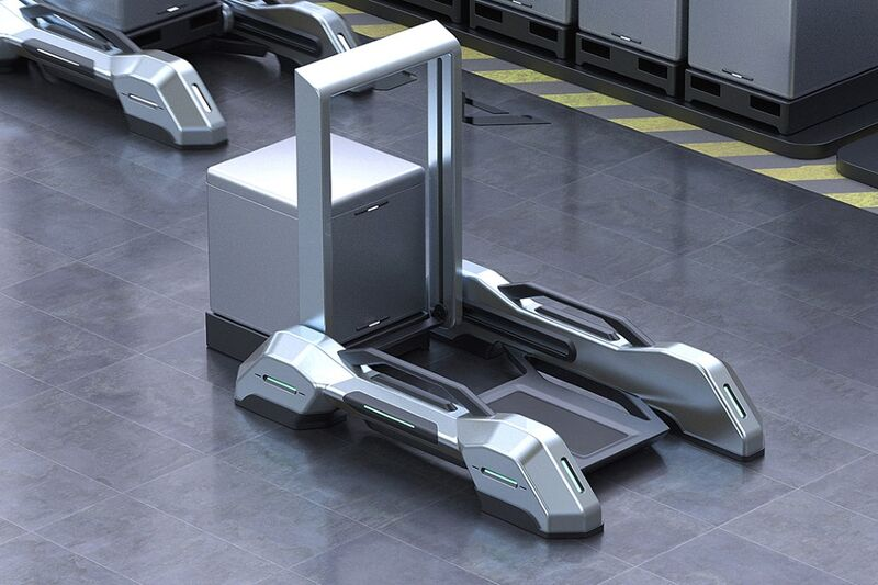 A Self-Driving Factory Forklift