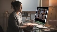The Poly Studio 21 Video Conferencing Monitor