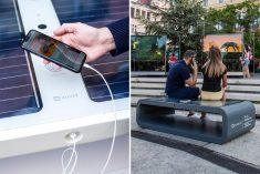 The Kuube Solar-Powered Bench