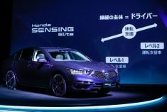Honda Motor Co unveils the partially self-driving Legend sedan