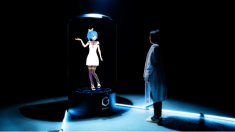 Japanese company develops life-sized reactionary anime girl hologram store guides