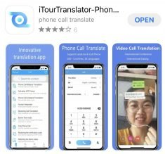iTourTranslator helps people translate a phone call or WhatsApp voice calls in real time