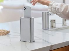 The simplehuman cleanstation Smartphone Sanitizer Works in 30-Seconds