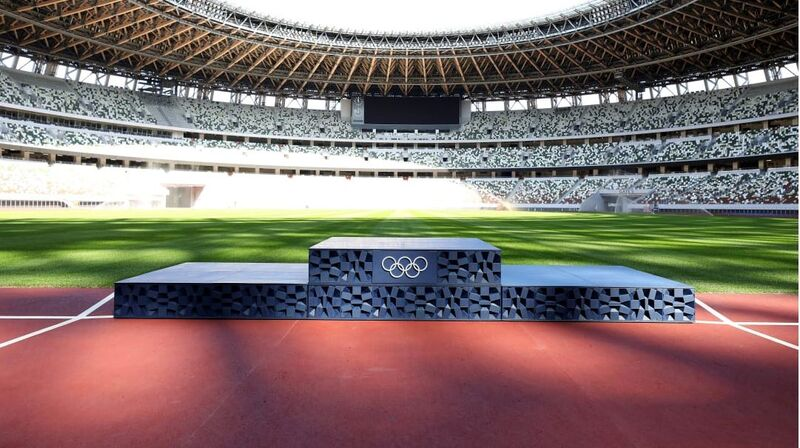 The Tokyo 2020 Olympic Podiums are Printed with Recycled Plastic