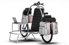 This adventure bike, called the Cercle, is designed for adventures on the road as an eco-friendl ...