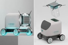 The Drobo Robot Delivers Medical Supplies to Doorsteps With a Drone