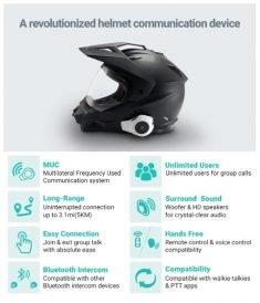 The 'HEADTOOTH Pro' Helmet Communication Headset