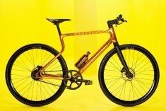 An E-Bike Made from Futuristic Materials